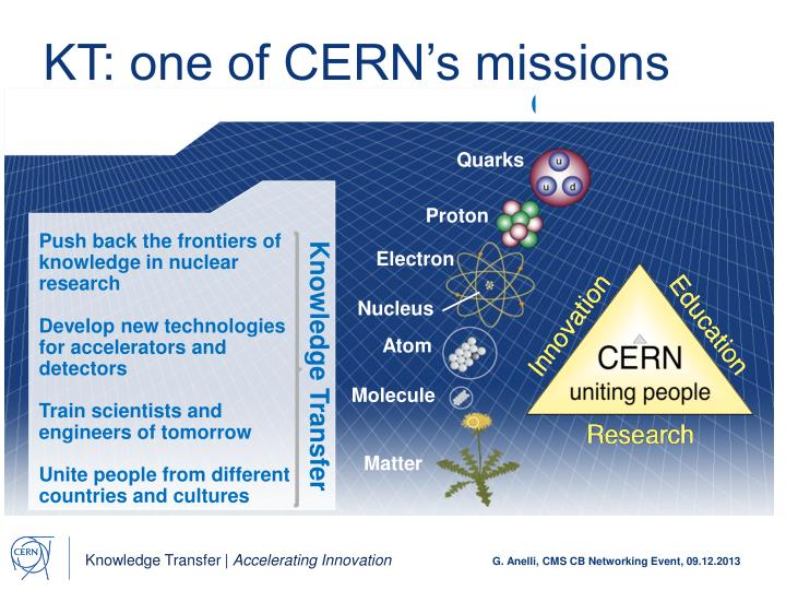 Kt one of cern s missions