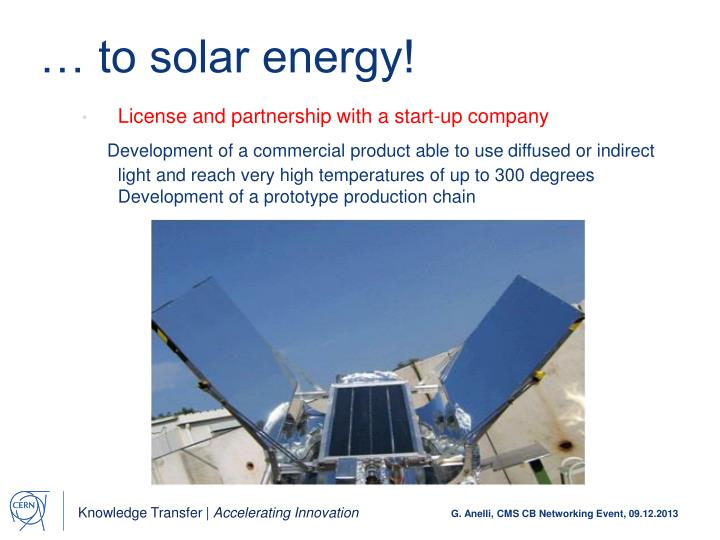 … to solar energy!