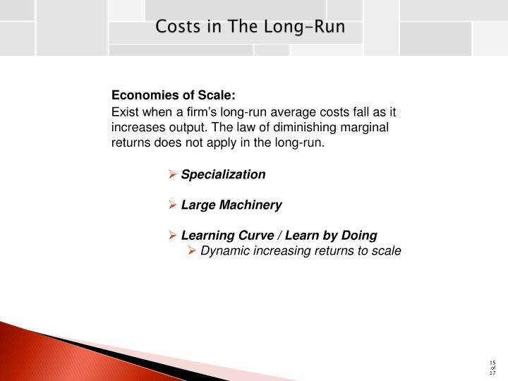 Costs in The Long-Run