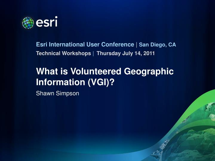 What is volunteered geographic information vgi