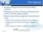 tco method