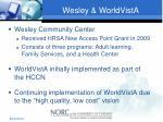 wesley worldvista
