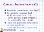 compact representations 2