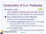 construction of s b predicates