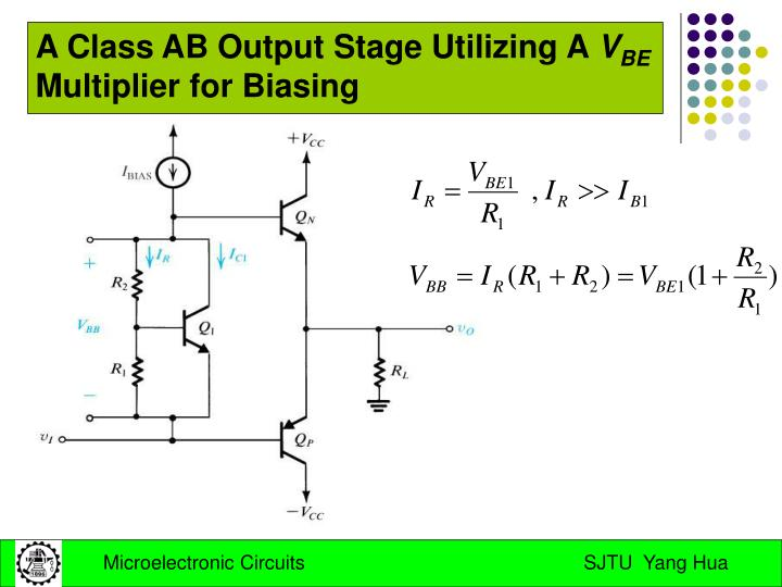 A Class AB Output Stage Utilizing A