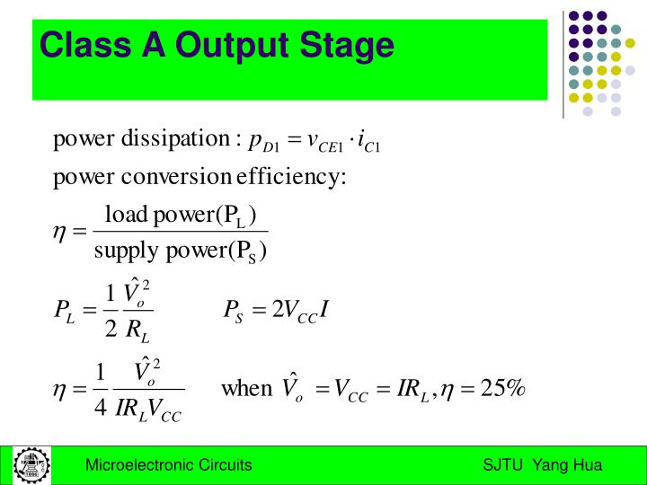 Class A Output Stage