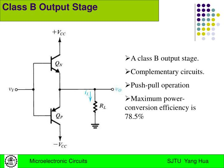 Class B Output Stage
