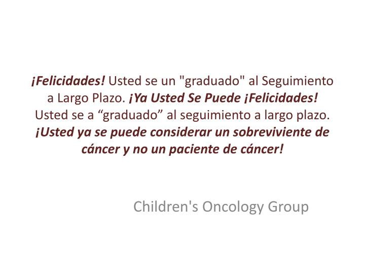 children s oncology group n.