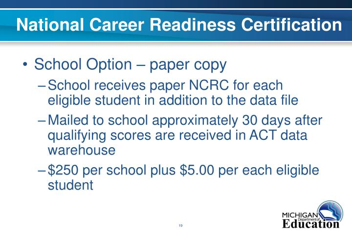 National Career Readiness Certification