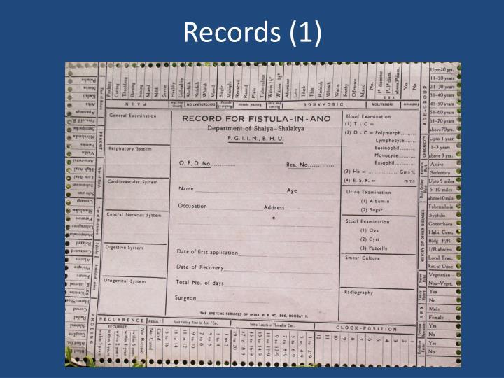 Records (1)