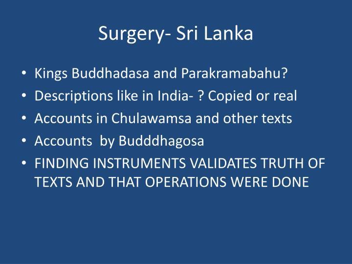 Surgery- Sri Lanka
