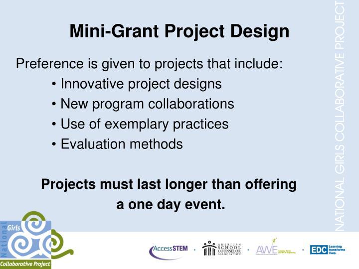 Mini-Grant Project Design