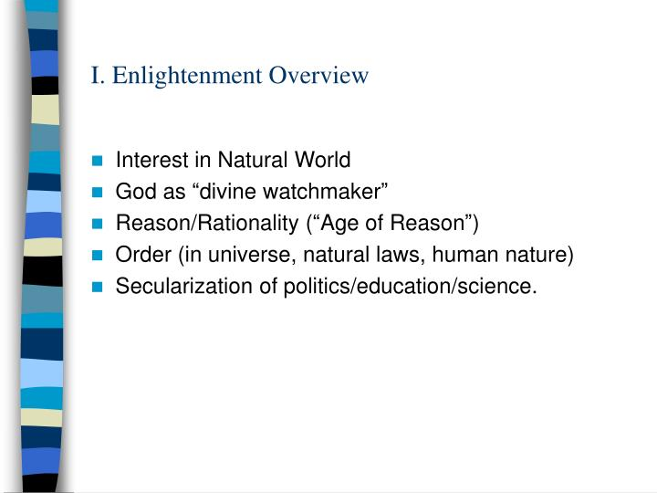 I enlightenment overview