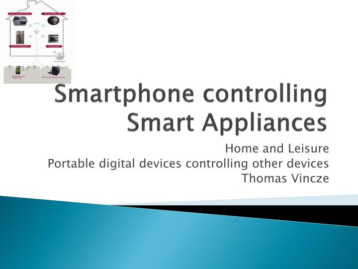smartphone controlling s mart appliances