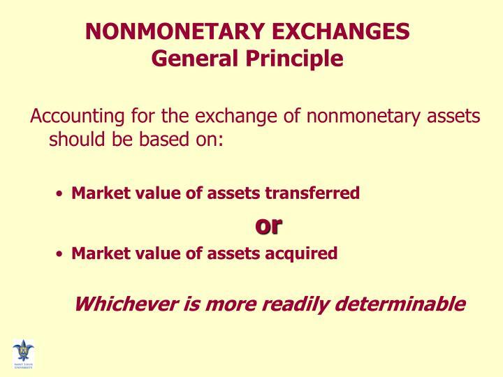 NONMONETARY EXCHANGES