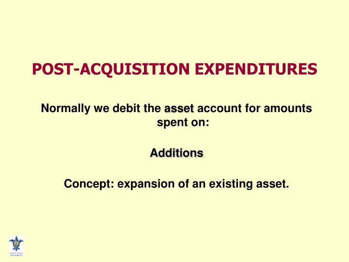 POST-ACQUISITION EXPENDITURES