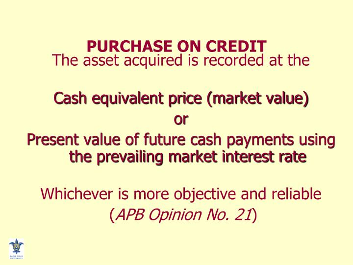 PURCHASE ON CREDIT