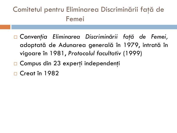 Comitetul pentru Eliminarea Discriminării faţă de Femei