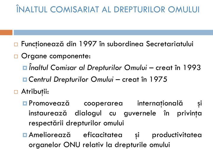 ÎNALTUL COMISARIAT AL DREPTURILOR OMULUI