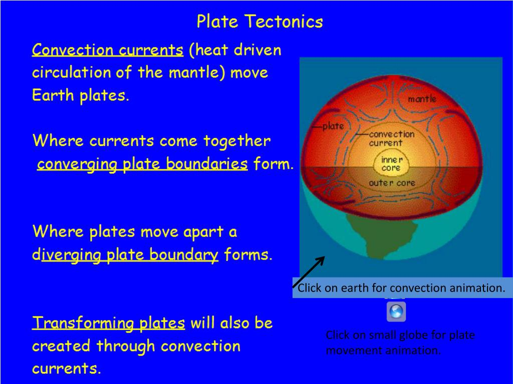 PPT - Click on earth for convection animation  PowerPoint