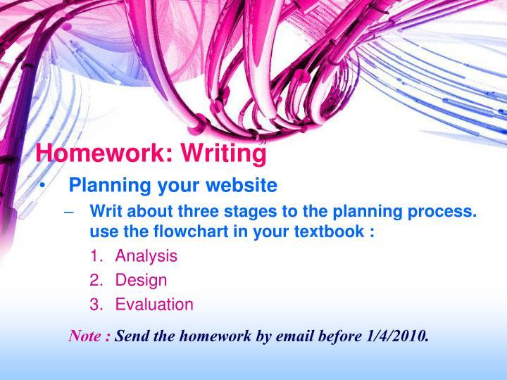 Homework: Writing