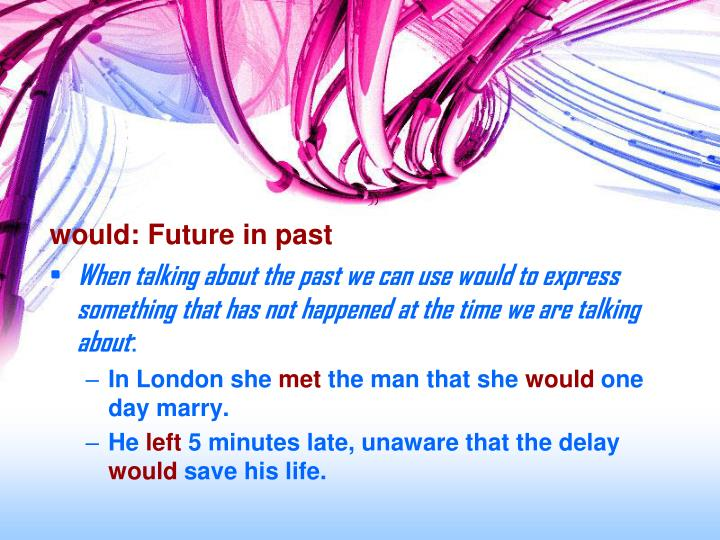 would: Future in past