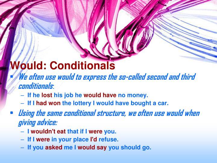 Would: Conditionals