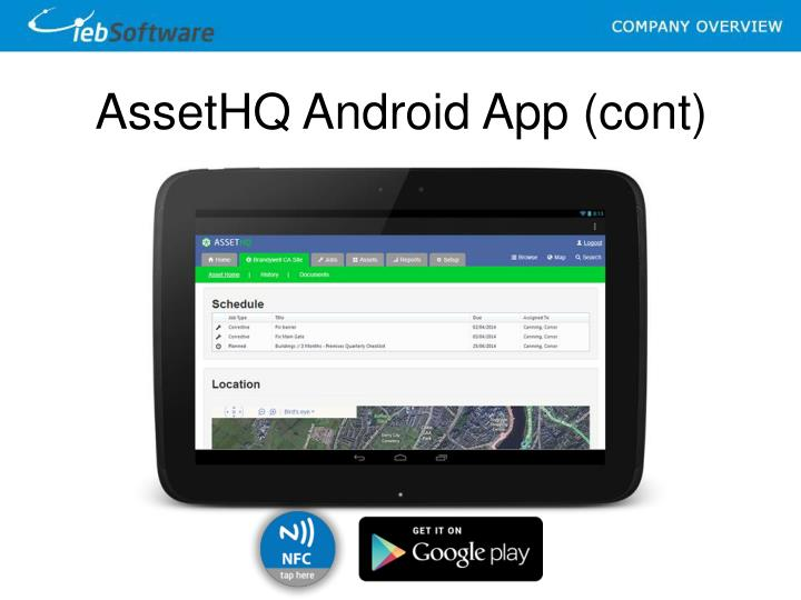 AssetHQ Android App (cont)