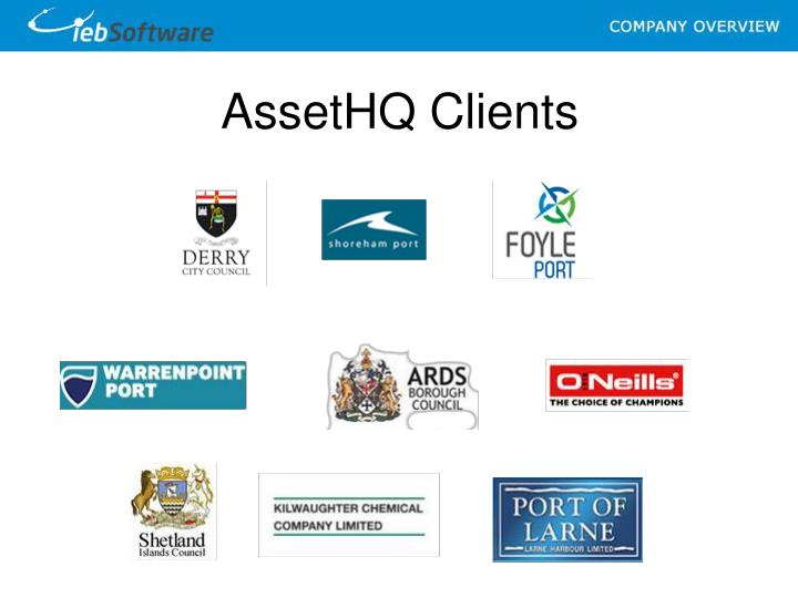 AssetHQ Clients