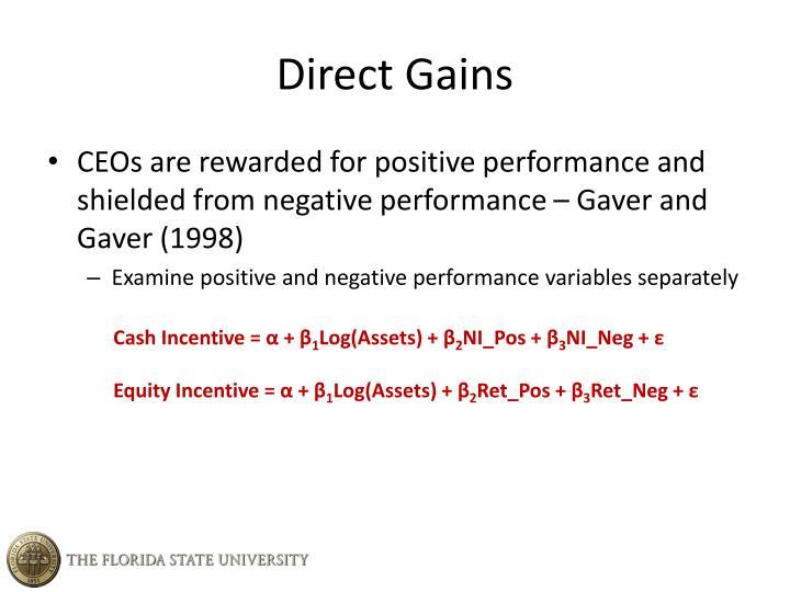 Direct Gains