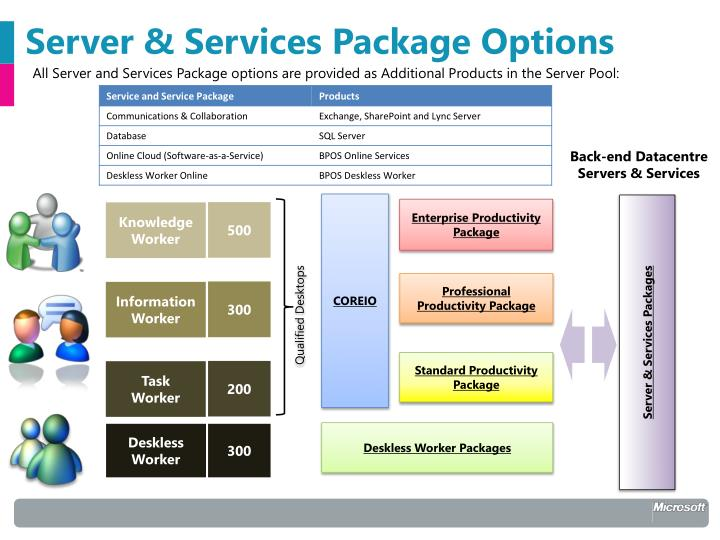 Server & Services Package Options