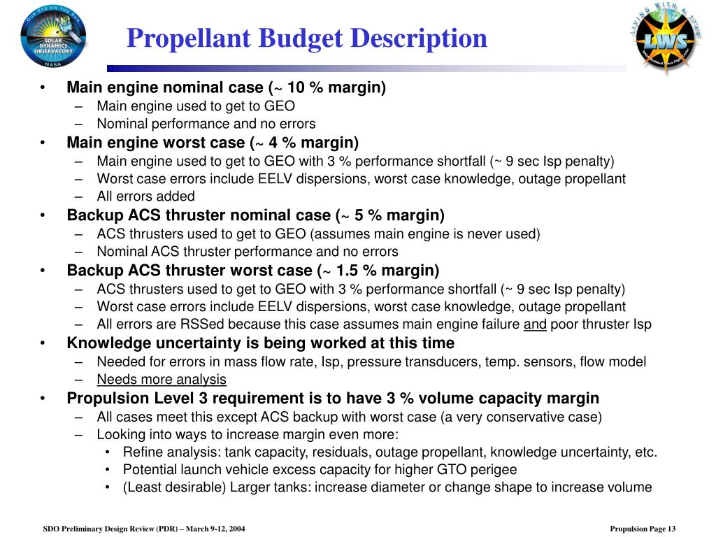 PPT - SDO Preliminary Design Review: Propulsion Subsystem PowerPoint