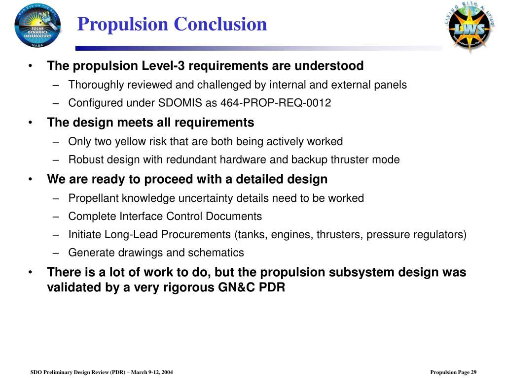 PPT - SDO Preliminary Design Review: Propulsion Subsystem