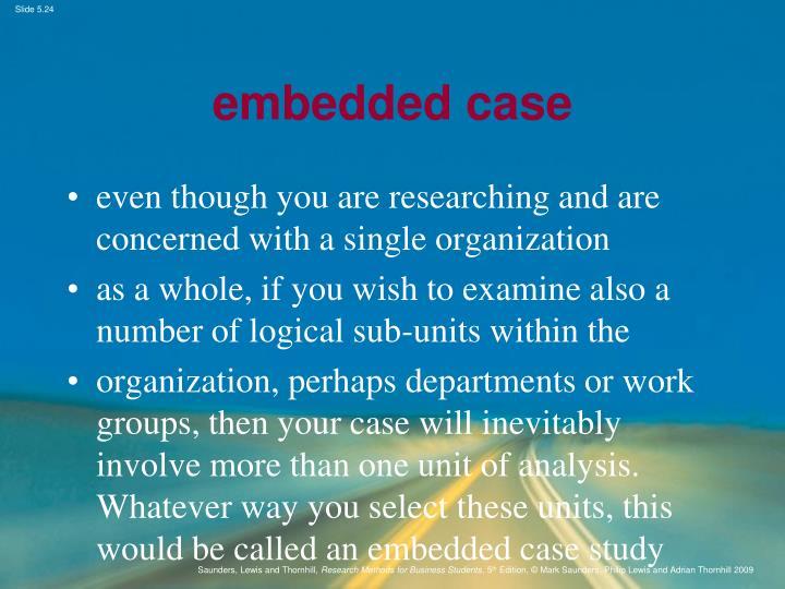 embedded case