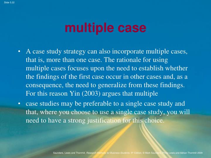 multiple case