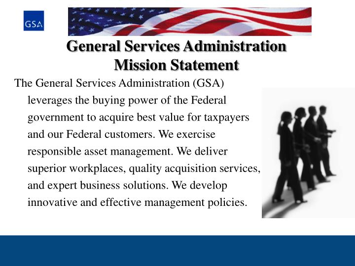 general services administration mission statement n.