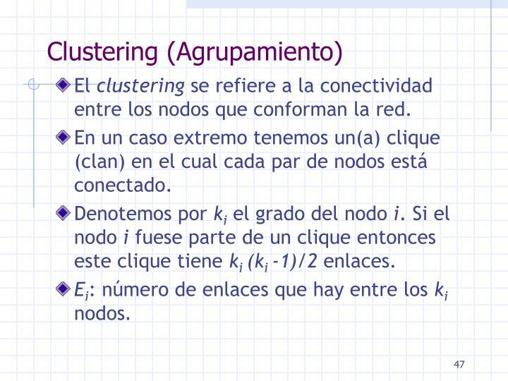 Clustering (Agrupamiento)