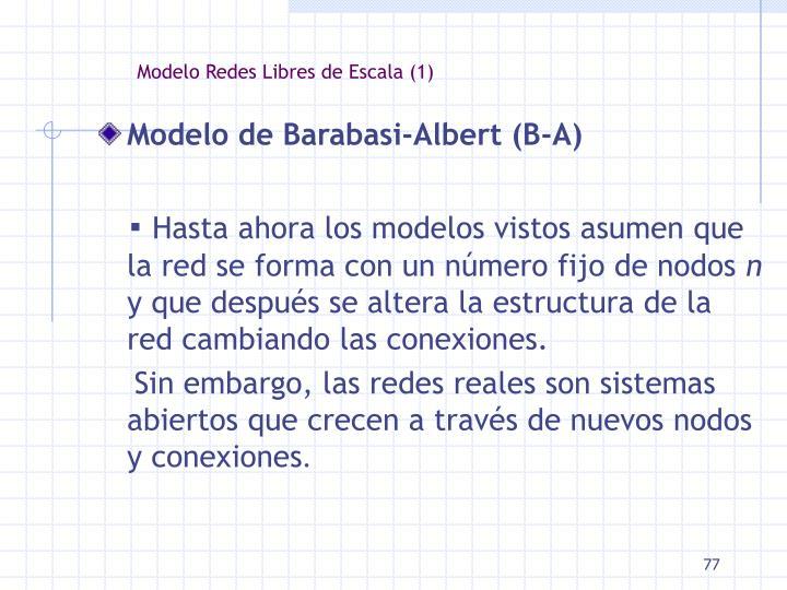 Modelo Redes Libres de Escala (1)