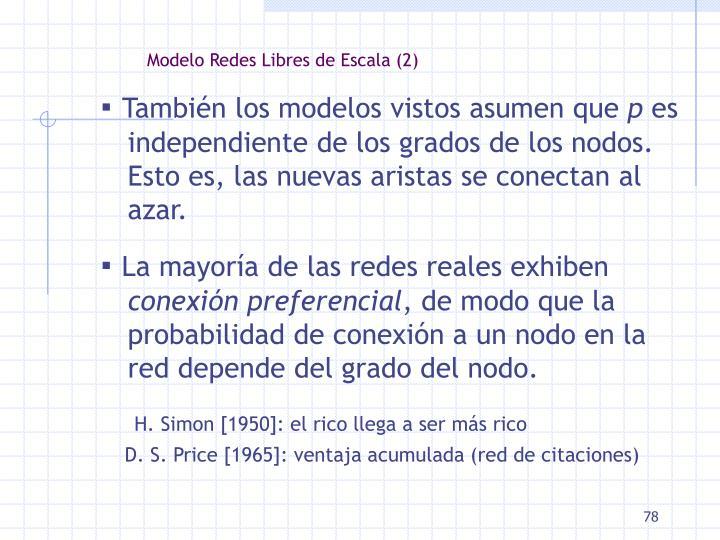 Modelo Redes Libres de Escala (2)
