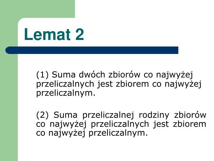 Lemat 2