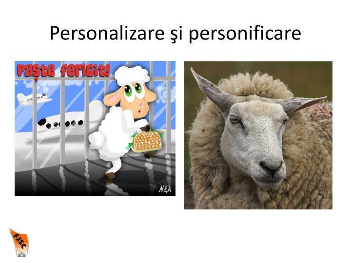 Personalizare şi personificare