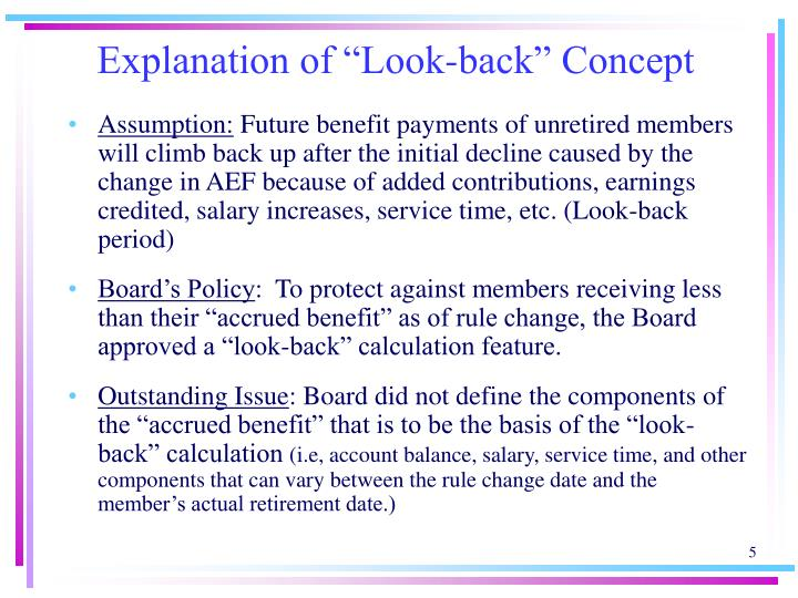 """Explanation of """"Look-back"""" Concept"""