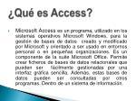 qu es access