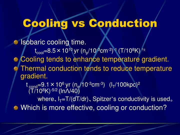 Cooling vs Conduction