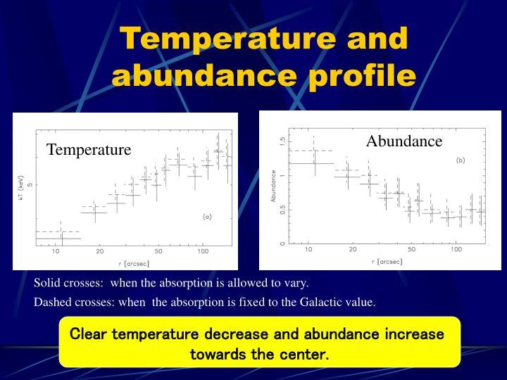 Temperature and abundance profile