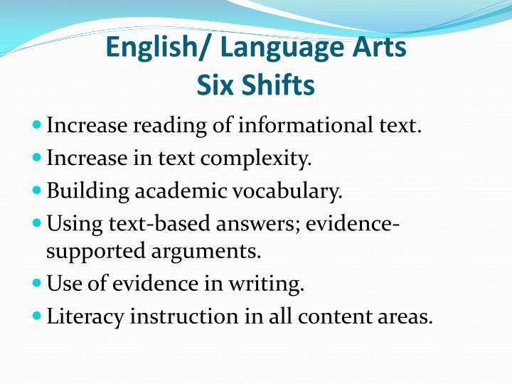 English/ Language Arts