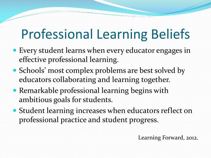 Professional Learning Beliefs