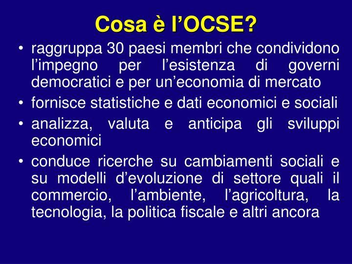 Cosa è l'OCSE?