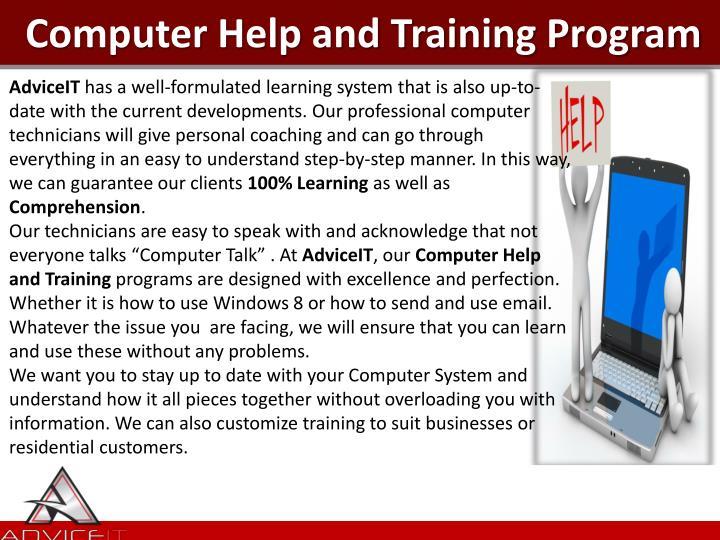 Computer Help and Training Program