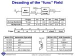 decoding of the func field